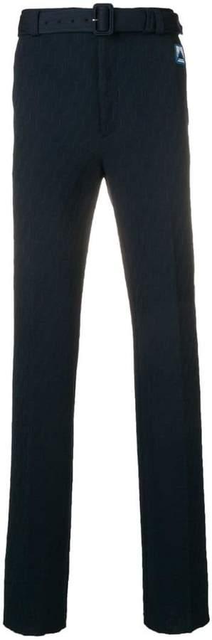 Prada technical jacquard trousers
