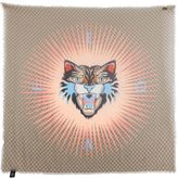 Gucci Angry Cat Gg Supreme Fringed Shawl