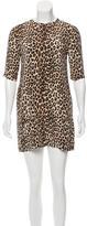 Equipment Leopard Print Silk Dress