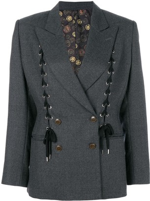 Jean Paul Gaultier Pre-Owned lace-up double-breasted jacket
