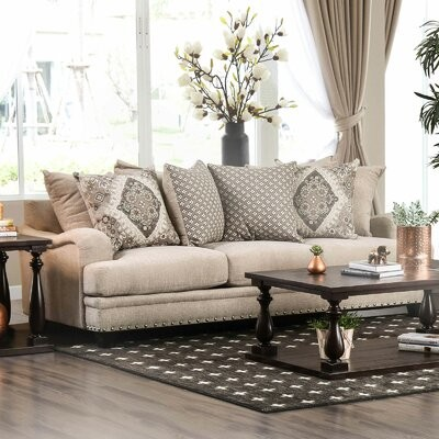 """Thumbnail for your product : Alcott Hill Levon 91"""" Square Arm Sofa"""