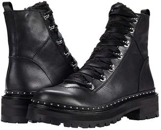 Steve Madden Rainier Hiker Bootie (Black Leather) Women's Shoes