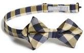 Nordstrom Boy's Buffalo Plaid Silk Bow Tie