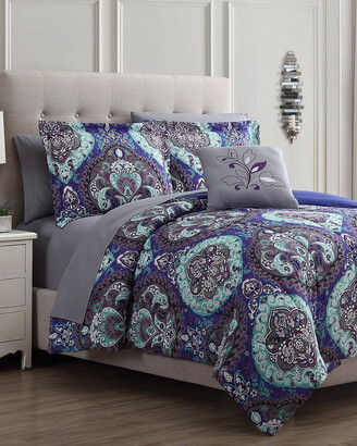 Modern Threads 8Pc Printed Reversible Complete Bed Set