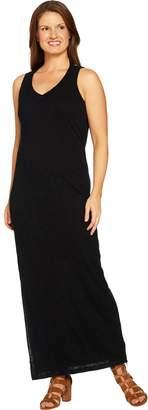 Peace Love World Drape Back Slub Knit Maxi Dress
