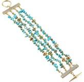 Sam Edelman Multi Row Nugget Bracelet