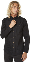 Rusty Lunar Mens Long Sleeve Shirt Black