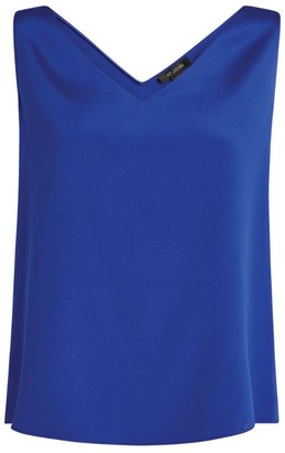 St. John Silk V-Neck Top