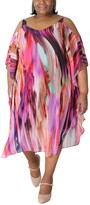 Thumbnail for your product : Robbie Bee Plus Size Tie-Dyed Cold-Shoulder Maxi Dress