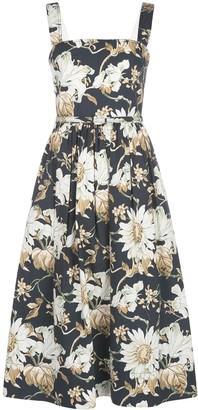Oscar de la Renta Sleeveless Belted Dress