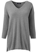 Classic Women's Cashmere 3/4 Sleeve Tunic Sweater-Atlas Yellow