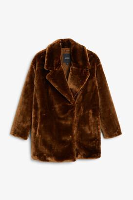 Monki Short faux fur jacket