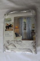 Martha Stewart Pair Of Panels With Tie-backs 84 X 84 Rose Vine In Package