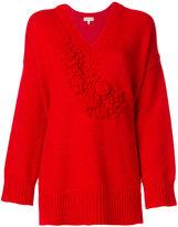 DELPOZO v-neck jumper - women - Polyamide/Alpaca/Merino - M