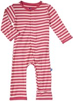 Kickee Pants Print Coveralls (Baby) - Bubblegum Stripe-18-24 Months