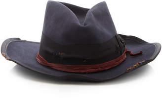 Nick Fouquet Banyan Leather-Trimmed Felt Fedora