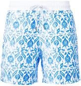 Venroy Turkish tile print swim shorts