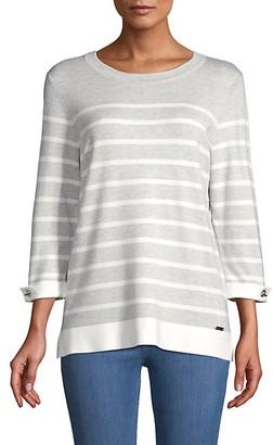 Calvin Klein Striped Long-Sleeve Top