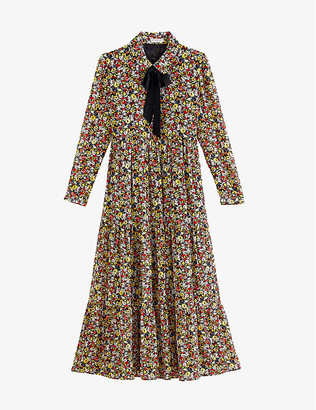 Claudie Pierlot Floral-print crepe maxi dress