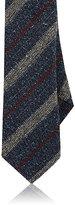 Barneys New York Men's Striped Silk-Wool Necktie-NAVY