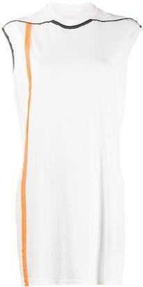 Rick Owens long-line distressed seam T-shirt