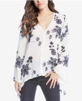 Karen Kane Embroidered High-Low Blouse