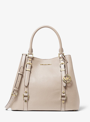 MICHAEL Michael Kors MK Bedford Legacy Large Pebbled Leather Tote Bag - Light Sand - Michael Kors