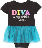 Baby Starters Black & Blue 'Diva' Tutu Bodysuit - Infant