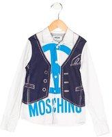 Moschino Boys' Vest Print Button-Up Shirt