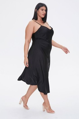 Forever 21 Plus Size Satin Midi Slip Dress