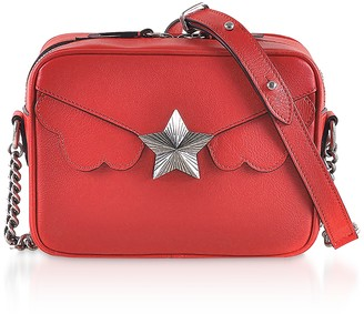 Genuine Leather Camera Bag w/Star