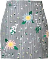 Thom Browne floral mini skirt - women - Silk/Wool - 40