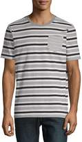 Sovereign Code Men's Striped Henley Cotton Tee