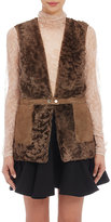 Lanvin Women's Shearling Vest-BROWN, TAN