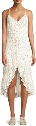Rails Frida Polka Dot Ruffled High-Low Midi Dress
