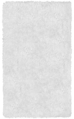 """Juicy Couture Kendra Shag White Area Rug Rug Size: Rectangle 2'25"""" x 3'75"""""""