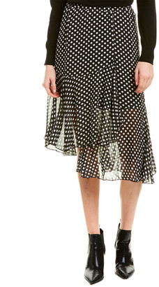 City Sleek Flutter Midi Skirt
