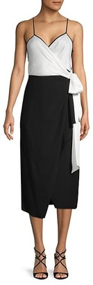 Diane von Furstenberg Avila Colorblock Wrap Dress