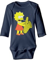 SANKA D Simpsons Lisa Infant Bodysuits Jumpsuit Onesies