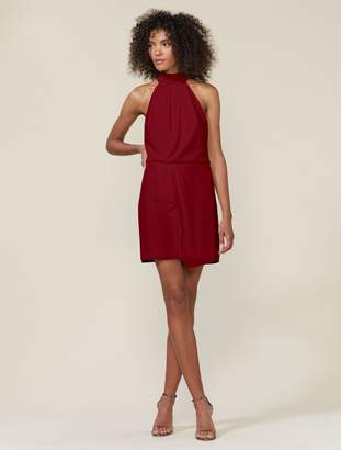 Halston SLEEVELESS MOCK NECK DRESS