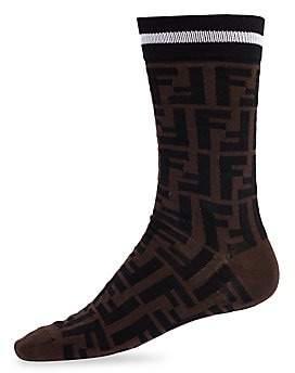 Fendi Men's Double-F Logo Socks