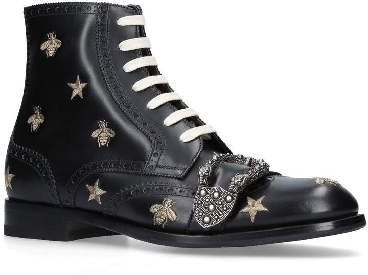Gucci Queercore Embellished Buckle Boots