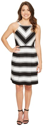 Adrianna Papell Women's Petite Stripe Dress