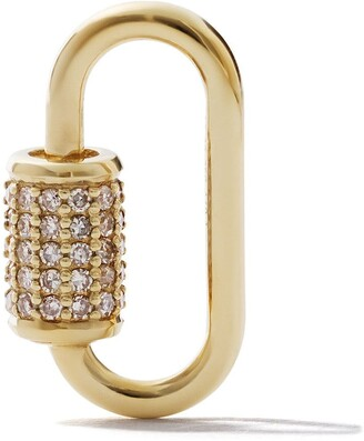 As 29 18k Yellow Gold Diamond Medium Oval Carabiner