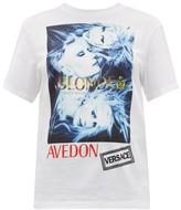 Versace Logo-print Cotton-jersey T-shirt - Womens - White Multi