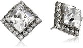 """Sorrelli Clear """" Perfectly Pointed Post Stud Earrings"""