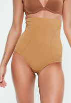 Missguided Tan High Waisted Control Pants