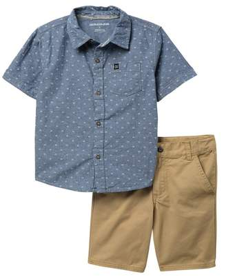 Calvin Klein Woven Shirt & Shorts Set (Little Boys)