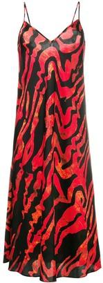 Ellery Runway squiggle print slip dress