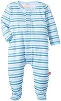 Magnificent Baby Up In The Air Stripe Footie (Baby) - Blue - Newborn
